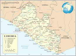 Map Of Virginia Counties And Cities by List Of Cities In Liberia Wikipedia