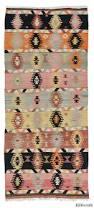 Vintage Turkish Kilim Rugs K0016001 Pink Vintage Sivas Kilim Rug Kilim Rugs Overdyed