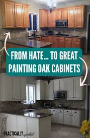Oak Kitchen Cabinets Refinishing From To Great A Tale Of Painting Oak Cabinets