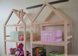 Free Wooden Bookcase Plans by Remodelaholic Diy House Frame Bookshelf Plans