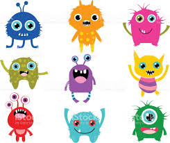 cute vector monsters or aliens creatures for halloween and for