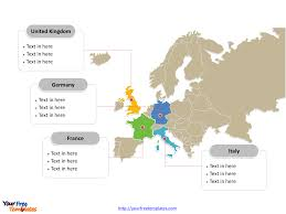 Western Europe Political Map by Free Europe Editable Map Free Powerpoint Templates