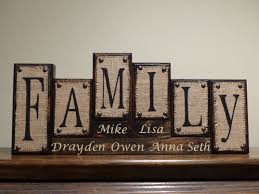 name blocks custom living room decor family name blocks