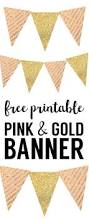 happy halloween banner free printable pink and gold banner free printable paper trail design