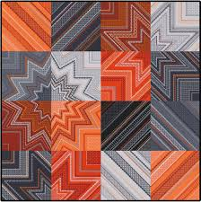 bold colors plus geometric shapes create modern flair in the
