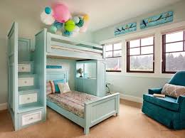 one of our most amazing bunk beds in two tone with stairs and