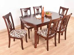 Buy Rubber Wood Furniture Bangalore Marty Solid 6 Seater Dining Set Buy And Sell Used Furniture And