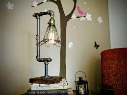hand made designer water pipe desk table lamp antique u2013 12vmonster