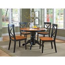 Five Piece Dining Room Sets Home Styles 5 Piece Black And Oak Dining Set 5168 318 The Home Depot