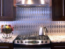 kitchen backsplash tile ideas hgtv tin kitchen backsplash