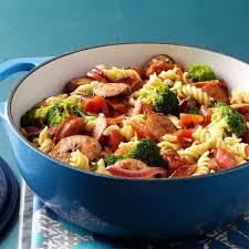 Pasta Recipes Pasta U0026 Broccoli Sausage Simmer Recipe Taste Of Home