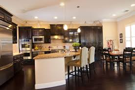 Kitchen Floor Ideas Pictures Download Dark Wood Floors In Kitchen Gen4congress With Regard To