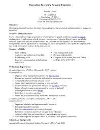 Secretary Job Description For Resume by Sample Resume Secretary Position Resume For Your Job Application