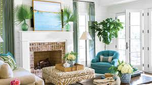 Turquoise And Green Lounge Room Ideas Beach Living Room Decorating Ideas Southern Living