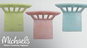 folk art home decor diy distressed chalk paint chairs michaels