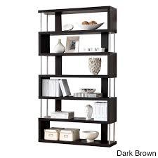 Modern Contemporary Bookshelves by Baxton Studio Javier Modern Zig Zag Display Shelving High Shelf