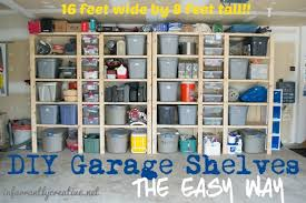 to build sturdy garage shelves project