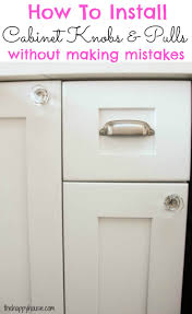 How To Paint Kitchen Cabinets Like A Pro How To Install Cabinet Knobs With A Template A Trick For Avoiding