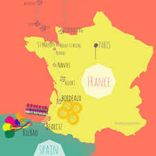 Map Of France And Spain by Biaritz Bastille Day And Bayonne U2013 France Indonesia In My Pocket