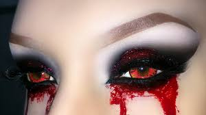 vampire demon zombie witch smoky eyes with glitter