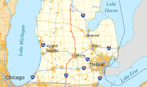 Map Of University Of Michigan by U S Route 27 In Michigan Wikipedia
