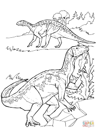 iguanodon dinosaurs coloring page free printable coloring pages