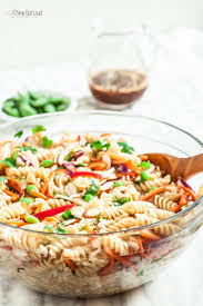 Pasta Salad Ingredients Asian Pasta Salad With Sesame Ginger Dressing Chew Out Loud