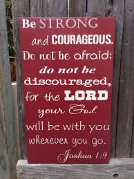 Bible Verses For The Home Decor Gift For Firefighter Be Strong And Courageous Wood Sign Joshua