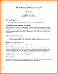 Moa Resume Sample by Assistant Resume For A Medical Assistant