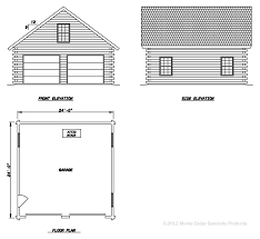 Garage Floorplans Double Garage With Loft Cedar Log Garage Maine Cedar Log Homes