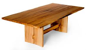 hand made live edge slab maple dining table by j holtz furniture