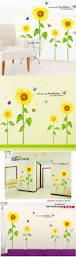 best 25 bedroom wall stickers ideas only on pinterest wall warm sunflower diy wall stickers kids bedroom wall decal home decor mural wallpaper