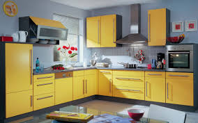 Kitchen Cabinet Colour Best Way To Change Kitchen Cabinet Color With Warm Blue Wall Paint