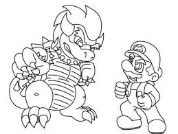 printable coloring pages bowser coloring home
