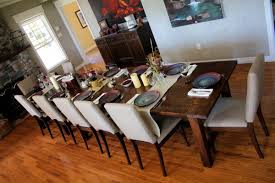 a classical touch of dining room with farm table design dining