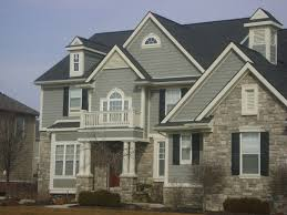Home Colour Design by Enticing Exterior Color Schemes With Calm And Relaxing Nuance