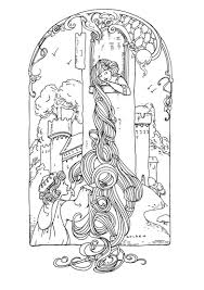 rapunzel fairy tales coloring pages for adults justcolor