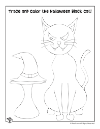 halloween black cat tracking worksheet for preschoolers woo jr