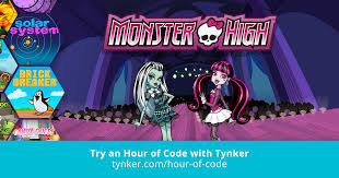 monster hour code tynker