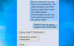 ClumsyThumbsy   EllenTV com Article Gassy Asian Gassy Asian Lindsay L  from Brossard  Quebec sent in this conversation she was having over text with a friend