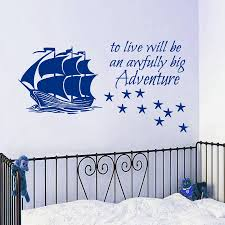 compare prices on pirates decal online shopping buy low price pirate ship wall decal quote vinyl sticker stars decals kids nursery decor china