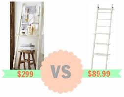 Over The Toilet Ladder Pottery Barn Look Alike Napa Ladder Storage Southern Savers