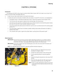 chapter 4 steering introduction wheel alignment cub cadet rzt