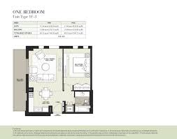 50 Sq M To Sq Ft Hayat Boulevard By Nshama 3 Bedroom Apartment Type 3a 1 Floor Plan