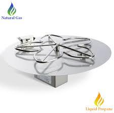 Fire Pit Burner by Hpc 30 Inch Round Electronic Pan Fire Pit Kit