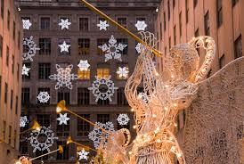 new york city manhattan rockefeller center christmas decorations