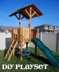 outdoor playset plans could probably do a ladder instead of a