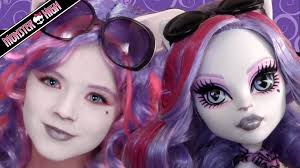 Monster Halloween List by Catrine Demew Monster High Doll Costume Makeup Tutorial For