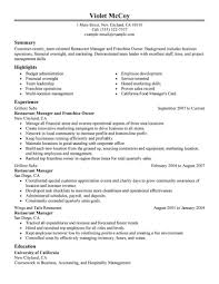 Resume Samples Grocery Store by 100 Resume Template For Restaurant Manager 100 Cv Template