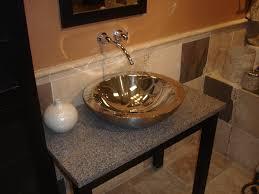 Bathroom Sink  Narrow Vessel Sink Stone Bathroom Basins Unique - Black bathroom vanity with vessel sink